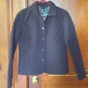 Tara Jones Brown Quilted Jacket sz. 6P